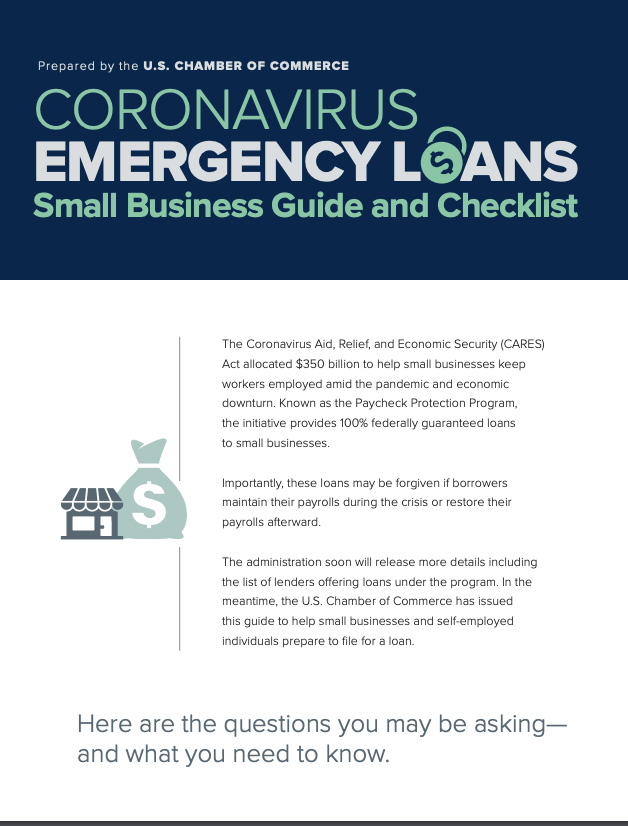link to small business loan guide during coronavirus